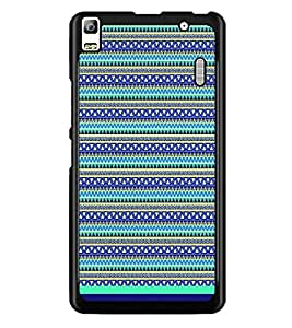 PrintDhaba Tribal Pattern D-1731 Back Case Cover for LENOVO A7000 (Multi-Coloured)