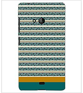 PrintDhaba Tribal pattern D-1871 Back Case Cover for MICROSOFT LUMIA 540 (Multi-Coloured)