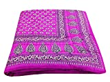 Sovaminternational Pink Block Gold Reversible Print Cotton Single Bed Quilt