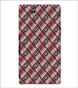 SONY XPERIA Z SQUARE PATTERN Designer Back Cover Case By PRINTSWAG