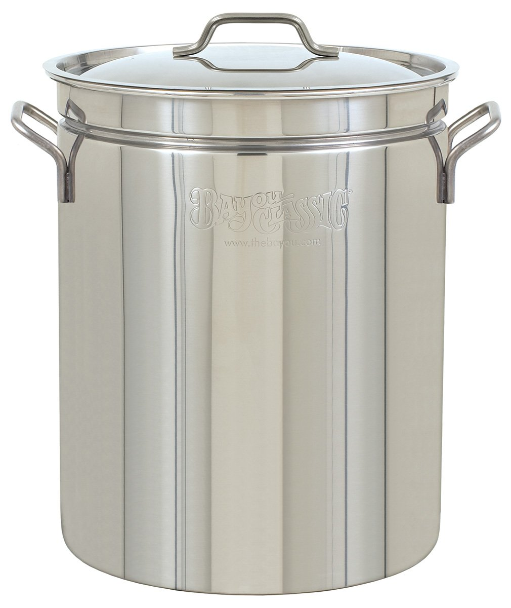 Bayou Classic 1044 44-Quart Stainless-Steel Stockpot