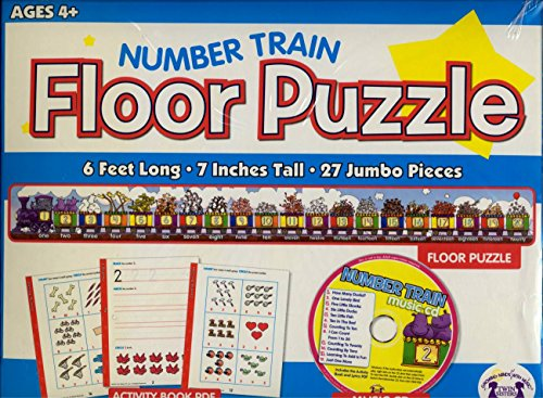 Twin Sisters Productions TW1210PZ Number Train Floor Puzzle & CD