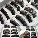 Faux Cils, Kolylong® Main maquillage 10 faux cils noirs sélectionnés cils épais long 198...