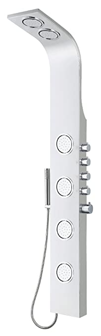 """Blue Ocean 63"""" Stainless Steel SPS8863 Thermostatic Shower Panel with Rainfall Shower Head, Body Nozzles, and Handheld Shower Head: Amazon.ca: Home & Kitchen"""