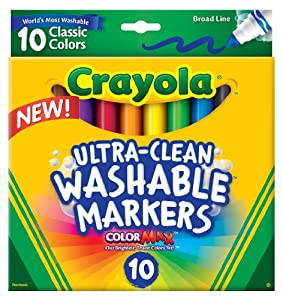 Crayola  Ultraclean Broadline Classic Washable Markers (10 Count)