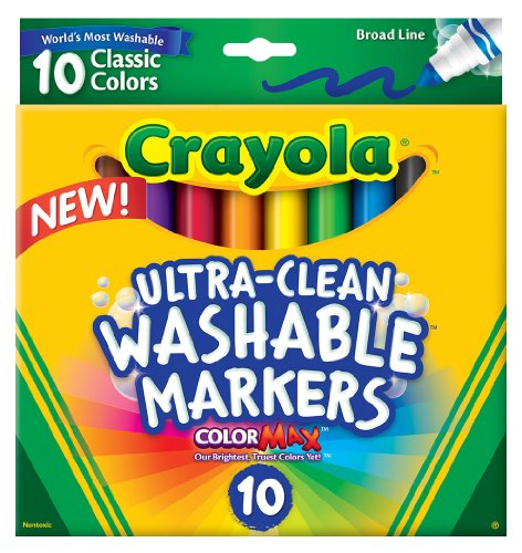 Crayola Ultraclean Broadline Classic Washable Markers (10 Count) front-1029190