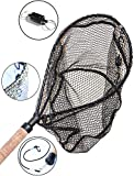 ActionSports Fishing Net - 4in1- Rubber Coated Netting - Magnetic Quick Release - Cork Handle - Safety Lanyard - Trout Fishing Net - Kayak Fishing Net - Fly Fishing Nets - Lifetime Guarantee