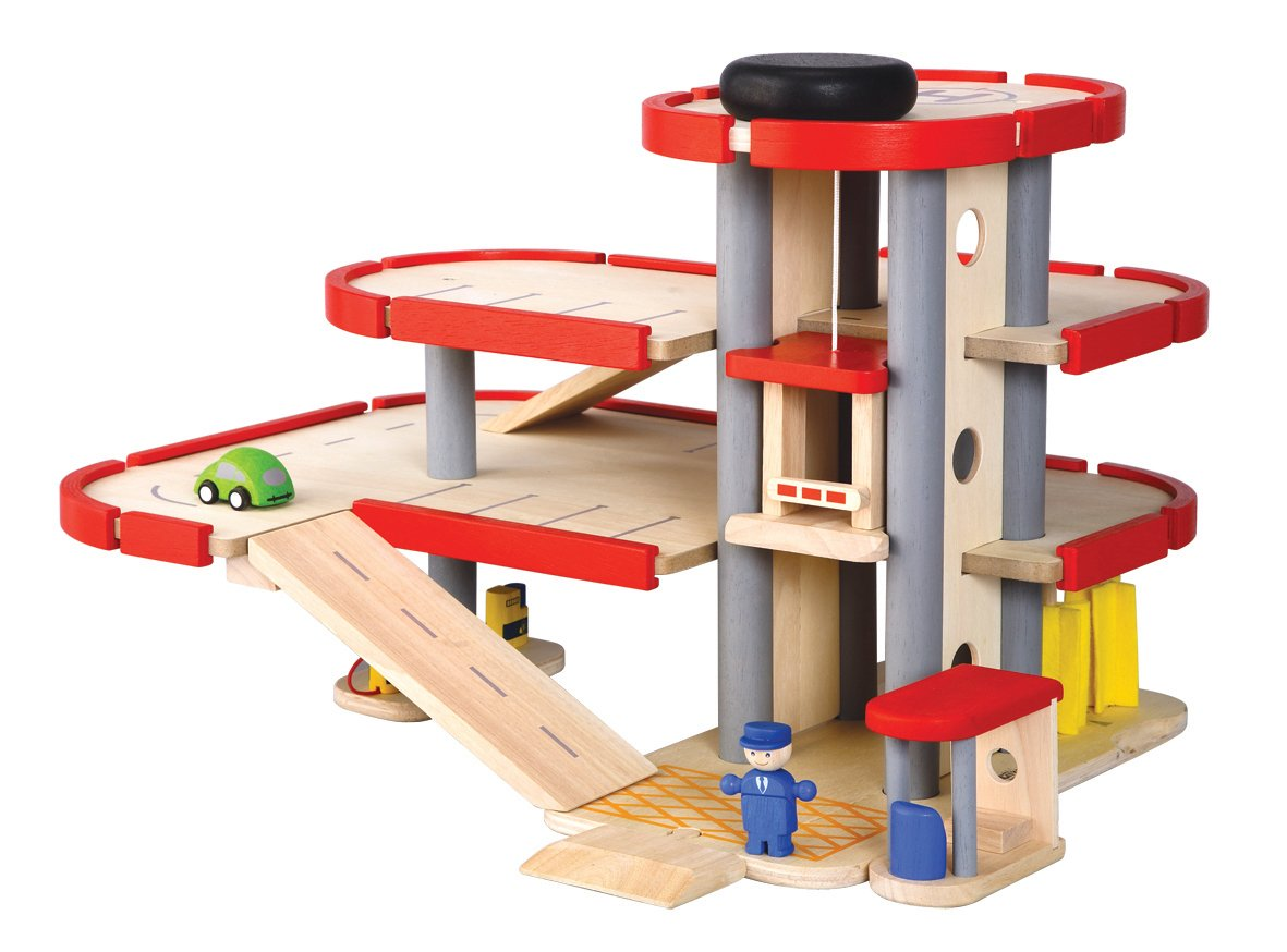Garage En Bois Vilac : Parking Garage Toy