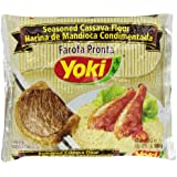 Seasoned Cassava Flour - Farofa de Mandioca Pronta - Yoki - 17.6 oz (500g) - GLUTEN-FREE - (PACK OF 01)