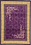7-Feet by 10-Feet (7' x 10') Versailles Purple Area Rug