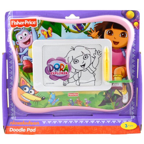 Mess-Free Magnetic Drawing Screen - Fisher-Price Kid-Tough Doodler Dora the Explorer Doodle Pad