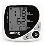 Digital Blood Pressure Monitor - JUNING BP102B FDA Approved Automatic Accurate Wrist Blood Pressure Monitor with IHB Indicator, Two User Modes, 2*60 M
