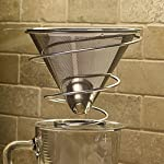 Pour Over Drip Coffee Maker from Khaw-Fee - Permanent, Reusable Stainless Steel Pour Over Microfilter and Stand - Paperless - Single Serve Cup - Portable - Enjoy Full Bodied Coffee at Home or Work from Khaw-Fee