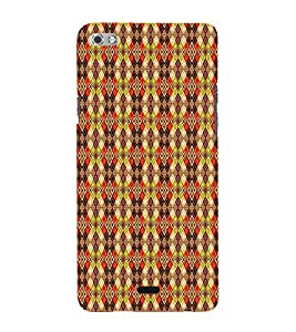 Colourful Pattern 3D Hard Polycarbonate Designer Back Case Cover for Micromax Canvas Sliver 5 Q450