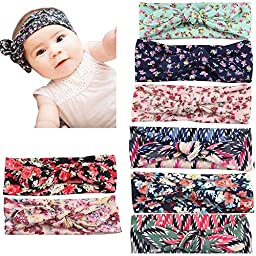 Defitck Baby Headbands Girl Newest Turban Head Hair Accessorie Wrap Knotted Hair Band 8PCS(fzt0010)
