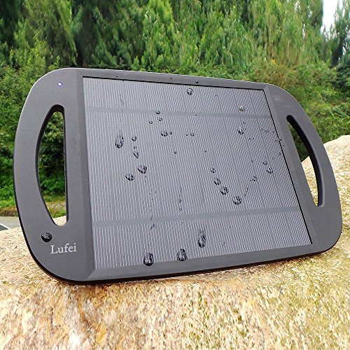 Lufei 2.5w Solar Panel Battery Charger Iphone Portable External Battery Power Pack Charger Backup Cell Phone Charger with Universal USB Charging Port for Portable Smartphones, Iphone, Samsung, Blackberry, Lg, Oppo, E-readers, Mp3 Players & More USB Powered Device