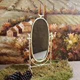 Shabby Cottage Chic Bird Table Mirror Home Decor