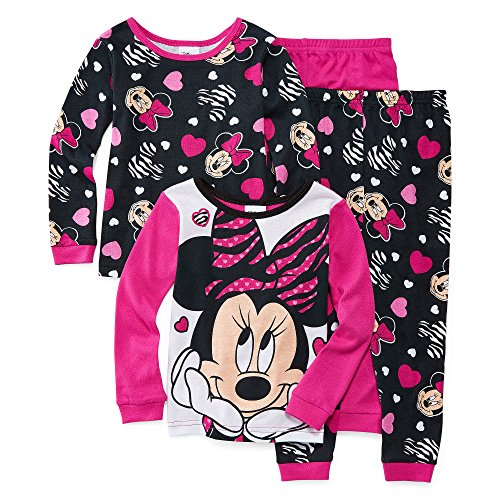 Disney Minnie Mouse 4-pc. Pajama Set - Toddler Gir