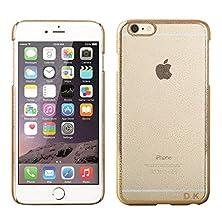 buy [D.K-Tech]Scratch-Resistant Slim Clear Case Iphone 6 Plus/6S Plus 5.5 Inch Shock-Dispersion Technology, Hard Back Pc Frosted+Water Drop Transparent Golden Bumper (Gold)