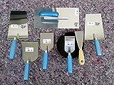 8 teiliges Maurer Glättekelle Spachtel Set mit Gipsbecher zum Aufziehen