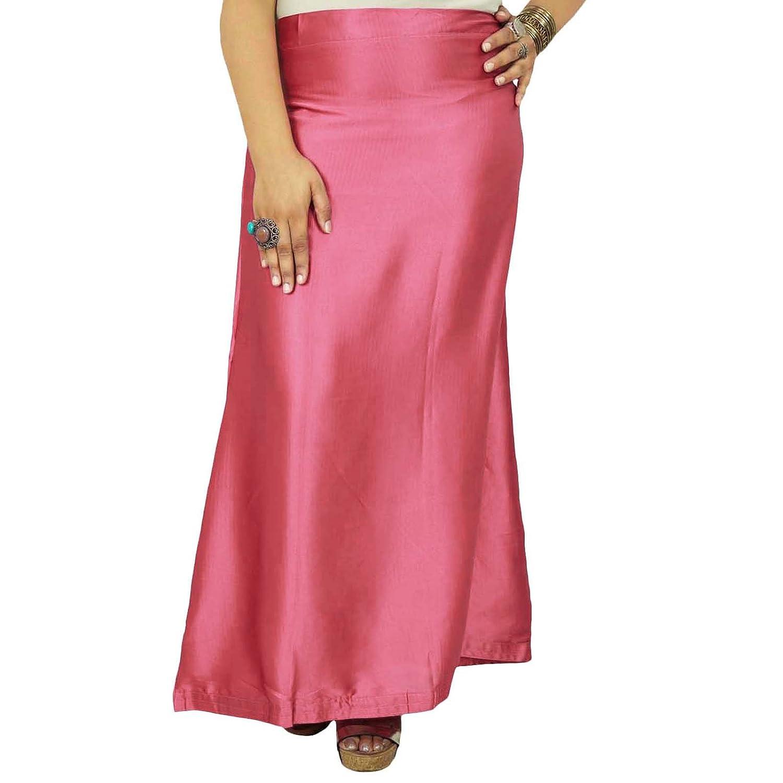 Inskirt Futter für Sari Bollywood Underskirt Indian Silk Satin Petticoat günstig