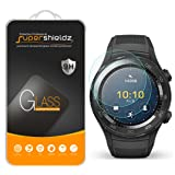 [2-Pack] Supershieldz for Huawei Watch 2 / Huawei Watch 2 Classic Tempered Glass Screen Protector, (Full Screen Coverage) Anti-Scratch, Anti-Fingerprint, Bubble Free, Lifetime Replacement Warranty