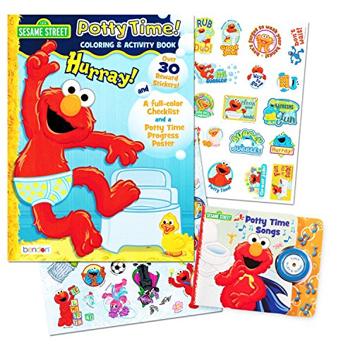 Sesame Street Elmo Potty Training Book Set -- 2 Books (
