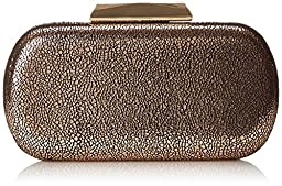 La Regale Crackle Clutch, Bronze, One Size