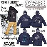 15-16 SCAPE エスケープ COACH JACKET コーチジャケット ネイビー メンズ ジャケット スノーウェア (LETTER, L)