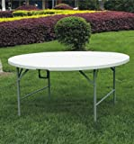 New 5ft Round Plastic Folding Table 4 Banquet Camping