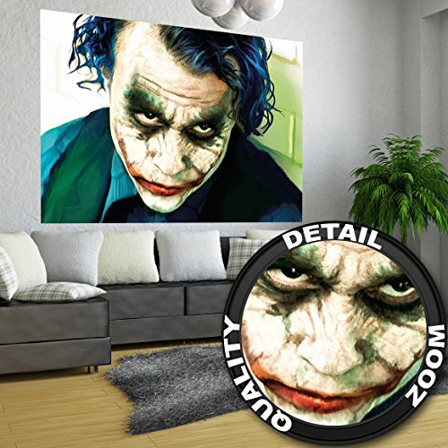 Joker The Dark Knight Batman film fumetto fotomurale decorazione da parete by Great Art 140 cm x 100 cm