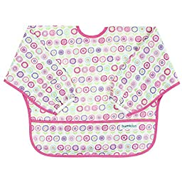 Bumkins Waterproof Sleeved Bib, Bloom (6-24 Months)