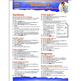 "Windows 7 Advanced Quick Source Guide (Pamphlet) By Quick Source          Buy new: $4.31     Customer Rating:       First tagged ""windows"" by gabriel72"
