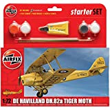 Airfix 1:72 Scale De Havilland DH.82a Tiger Moth Starter Set
