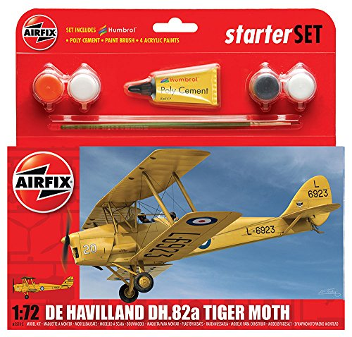 Airfix De Havilland DH.82a Tiger Moth Starter Gift Set (1:72 Scale)