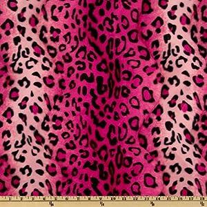 Amazon.com: 60'' Wide Wavy Soft Fur Jaguar Pink Fabric By The Yard