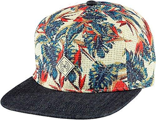 Barts - Oasis Cap, Cappello unisex, fantasia foglie blu e rosse, UNI
