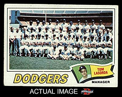 1977 Topps # 504 Dodgers Team Checklist Tommy Lasorda Los Angeles Dodgers (Baseball Card) Dean's Cards 1.5 - FAIR