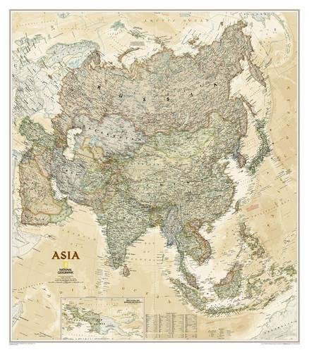 National Geographic Asia Executive Wall Map - Laminated (33.25 x 38 inches) (National Geographic Reference Map) [National Geographic Maps - Reference] (Tapa Blanda)