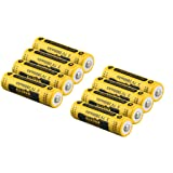 Kuerqi AA Li-ion Rechargeable Battery, 8 Pieces/Pack 3.7V 2800mAh High Capacity 14500 Lithium Betteries for Flashlights, Alarm Clocks, Remote Controls and More, Long Lasting, Packaging May Vary (Color: 8-pack)