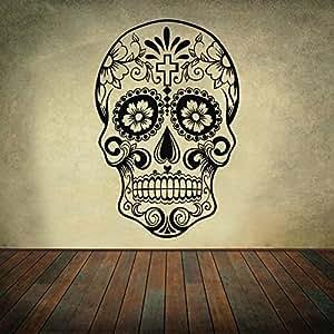 Sugar Skull Wall Decal Skull Wall Sticker Dia