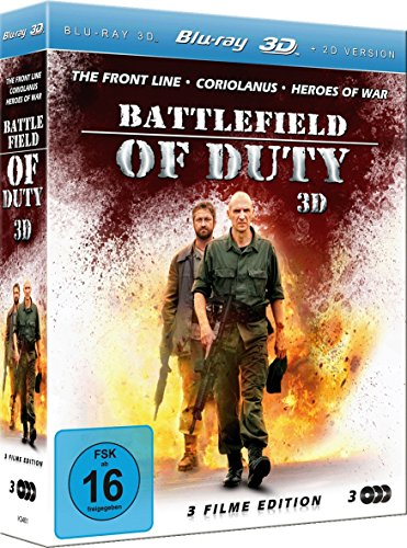 Battlefield of Duty 3D (The Front Line/Coriolanus/Heroes of War)(3 Disc Set) [3D Blu-ray]