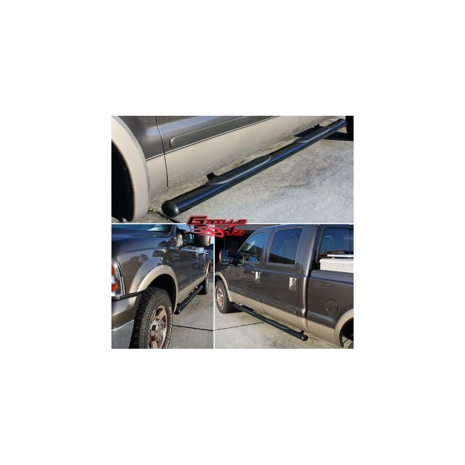 Fits 1999 2013 Ford Superduty Crew Cab 4Black Nerf Bars # FB4011B