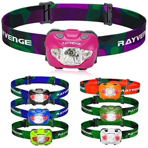 Rayvenge T3A LED Headlamp with Red Light - Lightweight headlamp