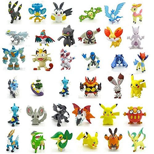 Lot of 2pcs with Random Mini Pokemon Figure Monster Action Figure Multicolor Toys Gift US Seller