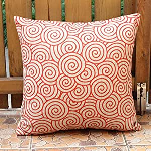 Red And Beige Throw Pillows : Amazon.com: Orange Red Beige Clouds Throw Pillow Case Decor Cushion Cover Square Decor 18
