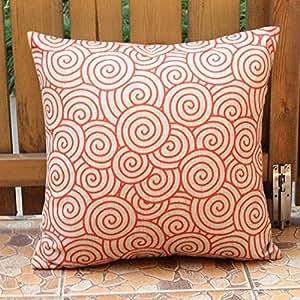 Amazon.com: Orange Red Beige Clouds Throw Pillow Case Decor Cushion Cover Square Decor 18