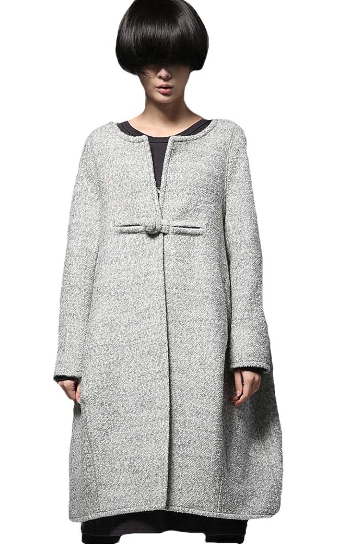Voguees Frauen Neuer Winter-One Button Langen Mantel