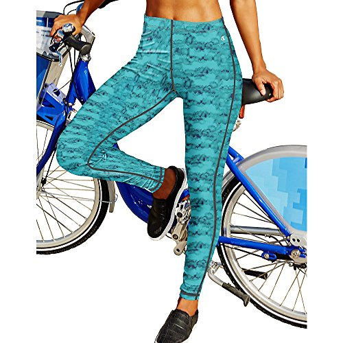 Champion Go To Women's Print Tights_Tie Dye Amazing Aqua_L (Champion Sports Bra Girls compare prices)