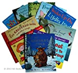 Julia Donaldson Julia Donaldson Collection 10 books in zip lock bag: The Gruffalos Child / Charlie Cooks Favourite Book / Monkey Puzzle / Wake Up Do Lydia Lou! / Snail and the Whale / Freddie and the Fairy / Wriggle and Roar / The Gruffalo Song / Toddle